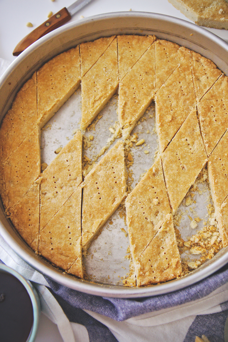 Pine Nut and Vanilla Bean Shortbread | La Pêche Fraîche