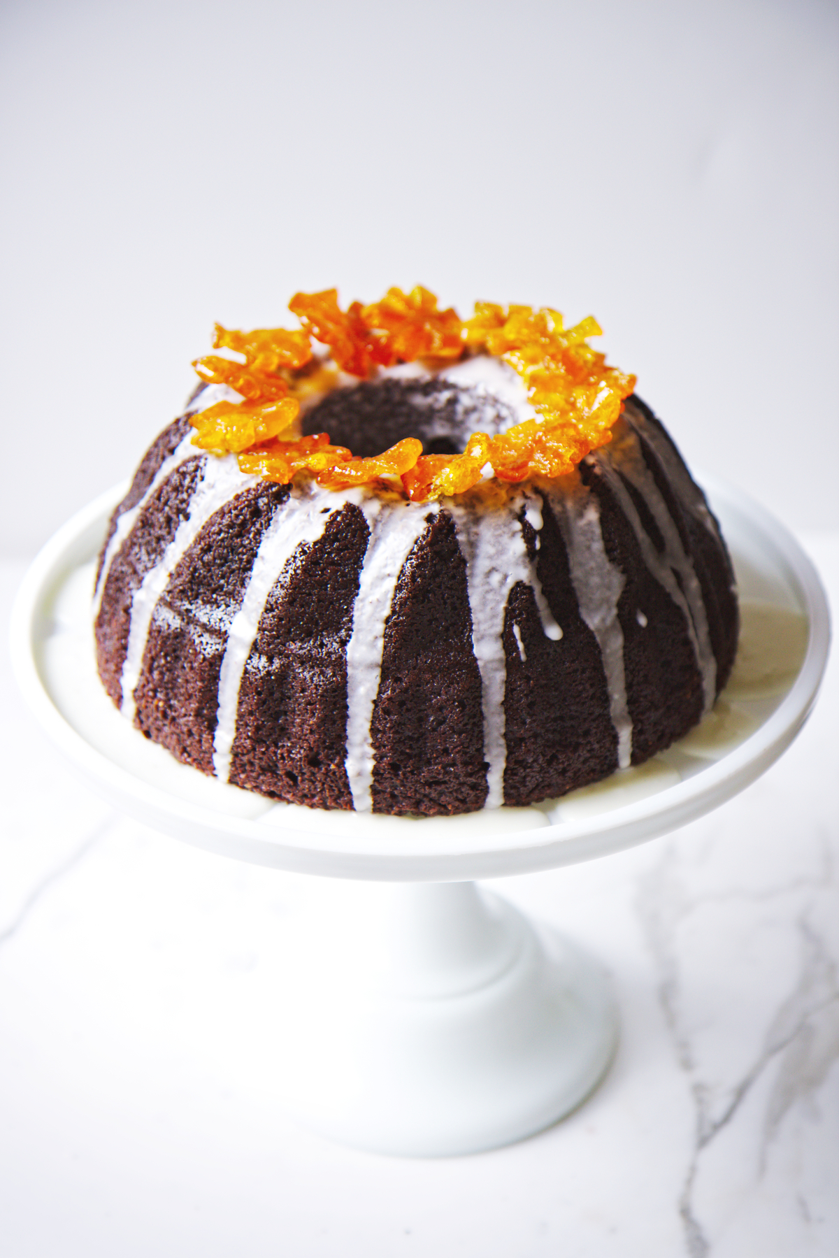 Chocolate and Candied Kumquat Cake | La Pêche Fraîche