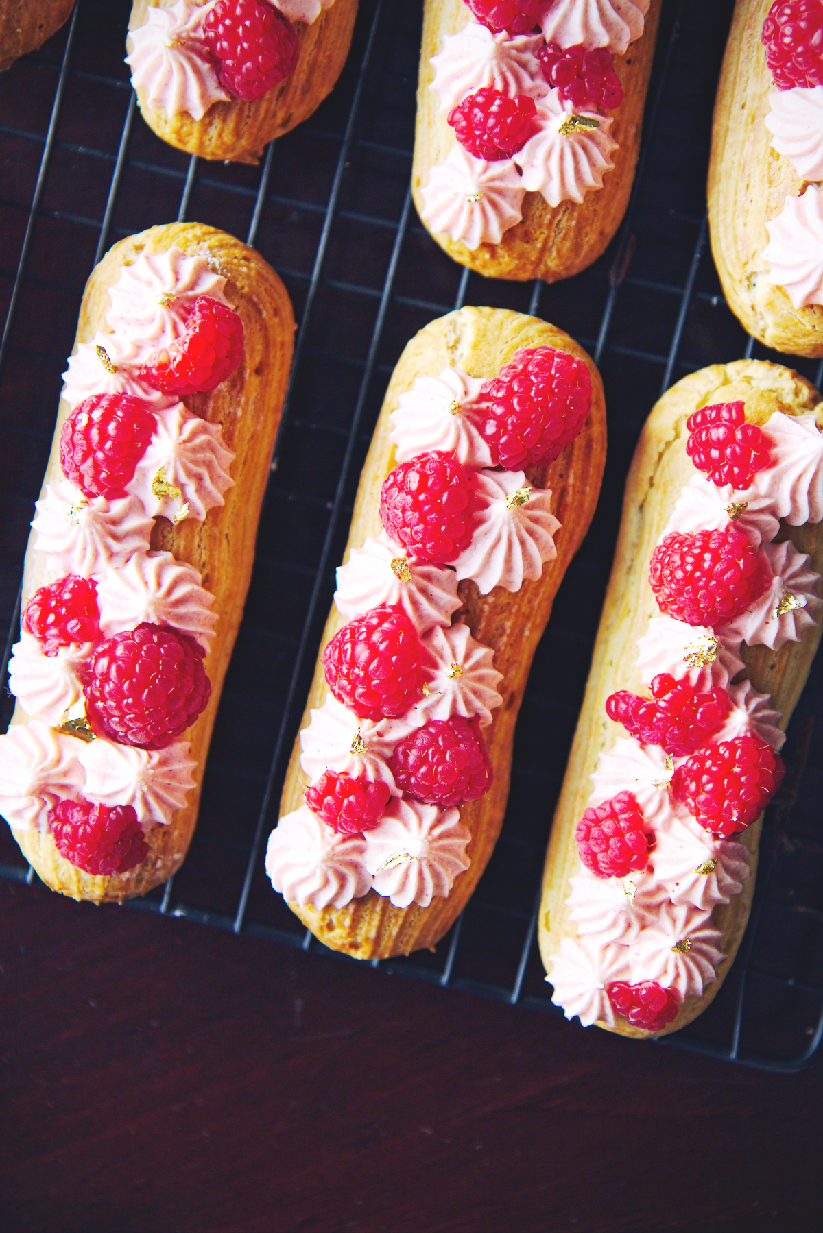 Raspberry White Chocolate and Nutella Éclairs | La Pêche Fraîche