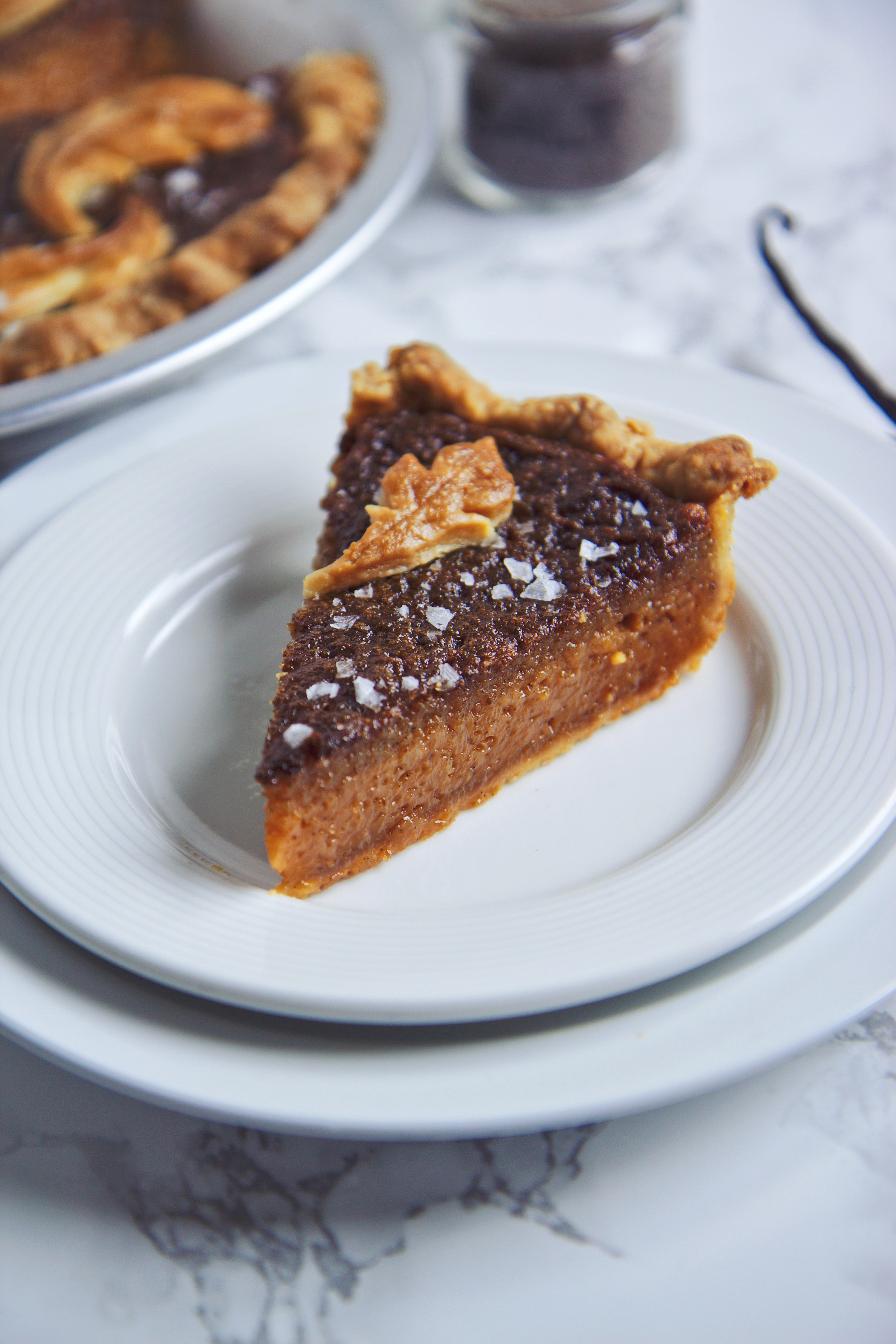 Brown Butter Smoked Salty Honey Pie | La Pêche Fraîche