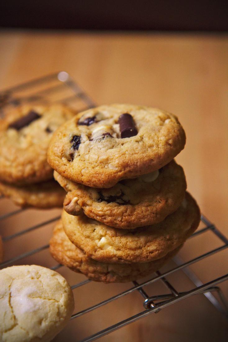 Chocolate, sour cherry, and coconut cookies | La Pêche Fraîche