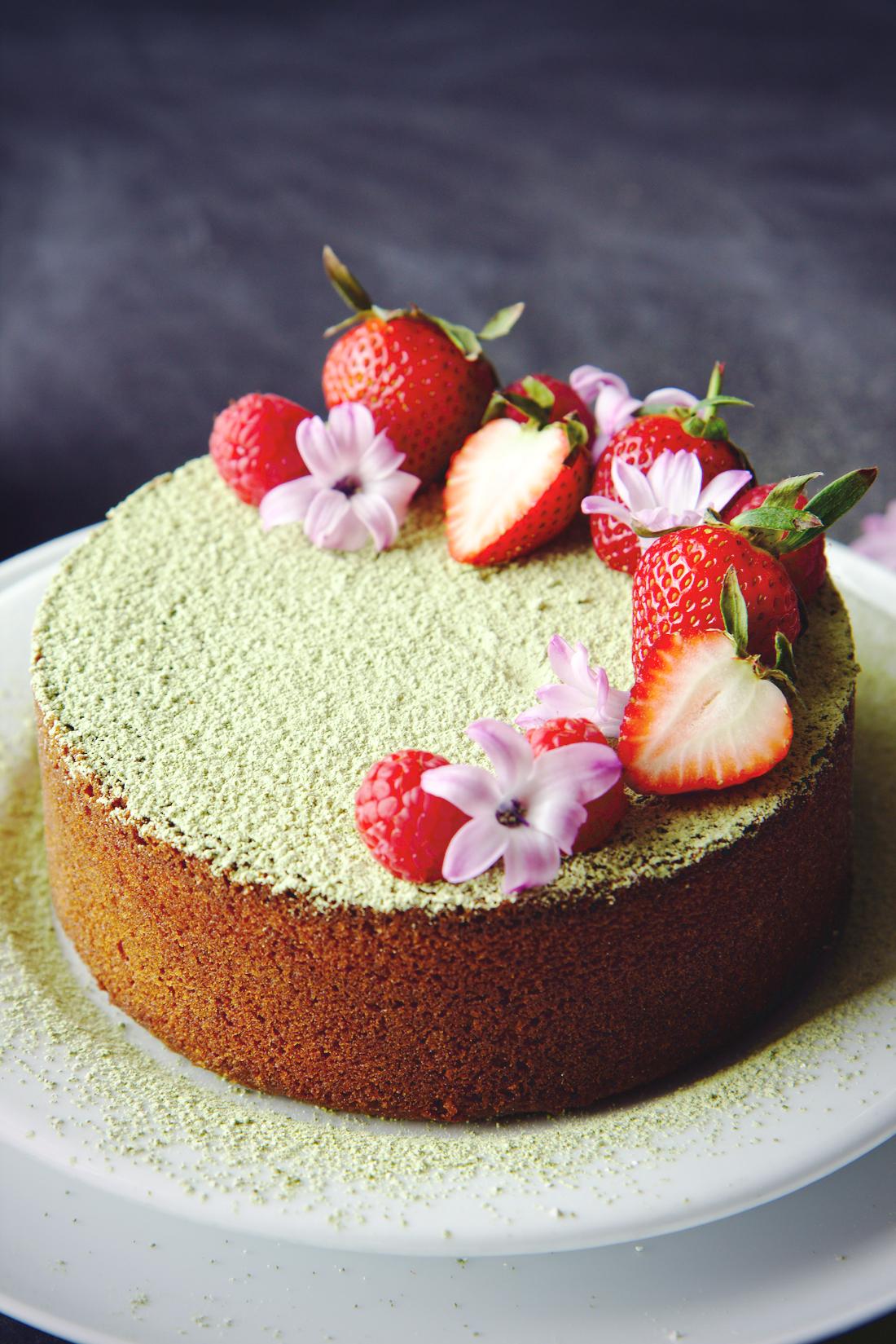Matcha Butter Cake | La Pêche Fraîche