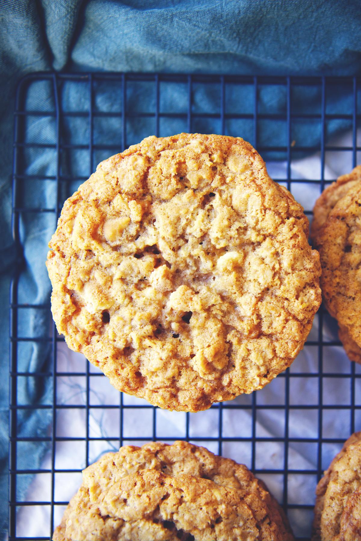 Chewy Oatmeal Butterscotch Cookies | La Pêche Fraîche