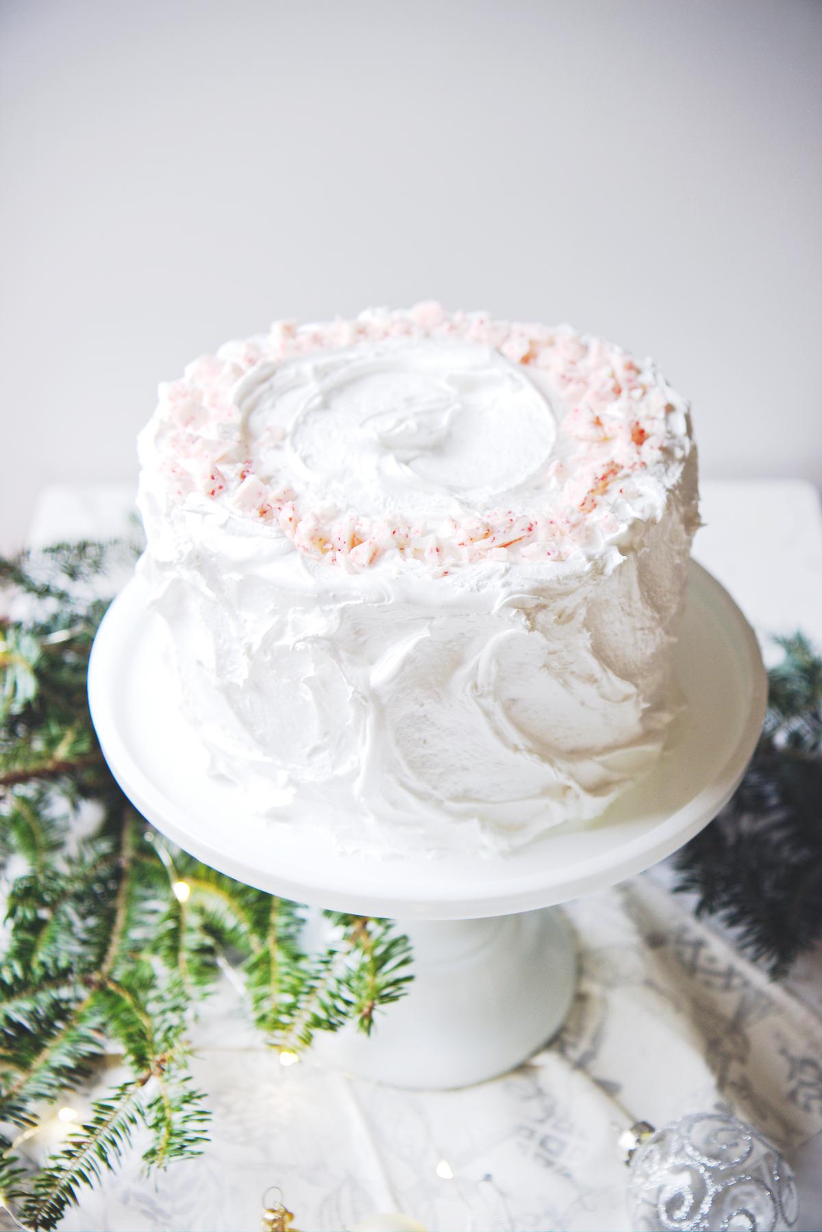 Chocolate Peppermint Cloud Cake | La Pêche Fraîche