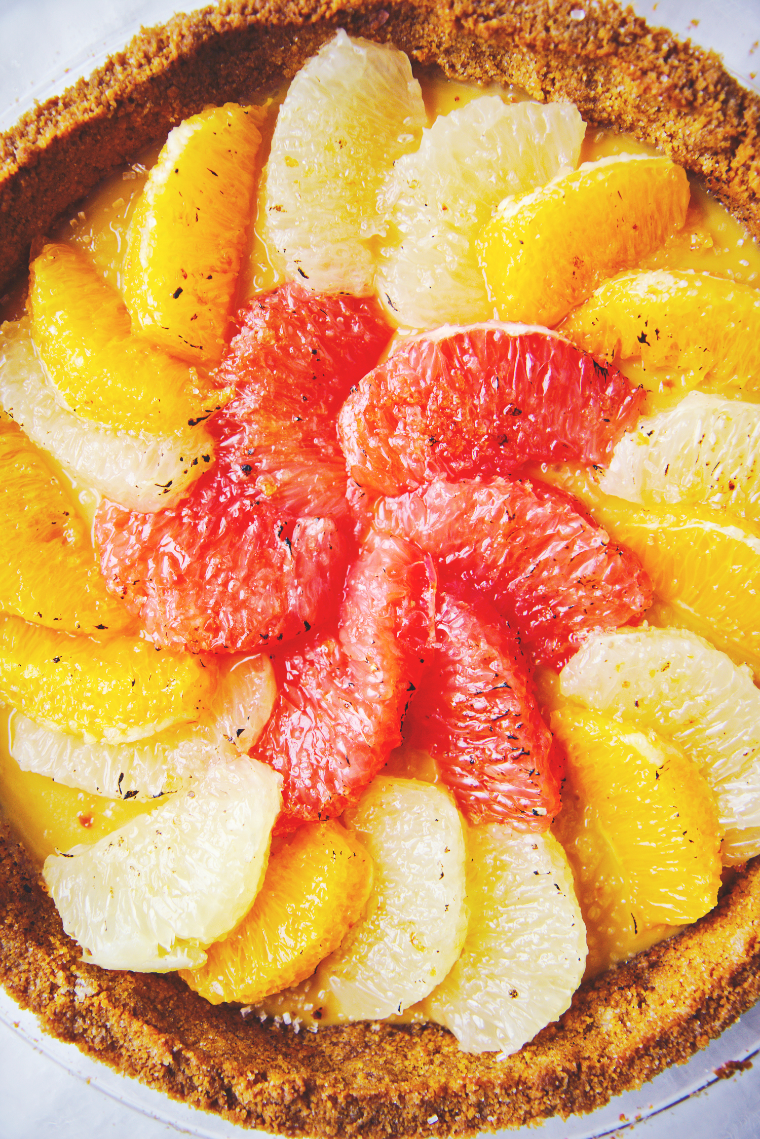 Brûléed Citrus and Lime Pie | La Pêche Fraîche
