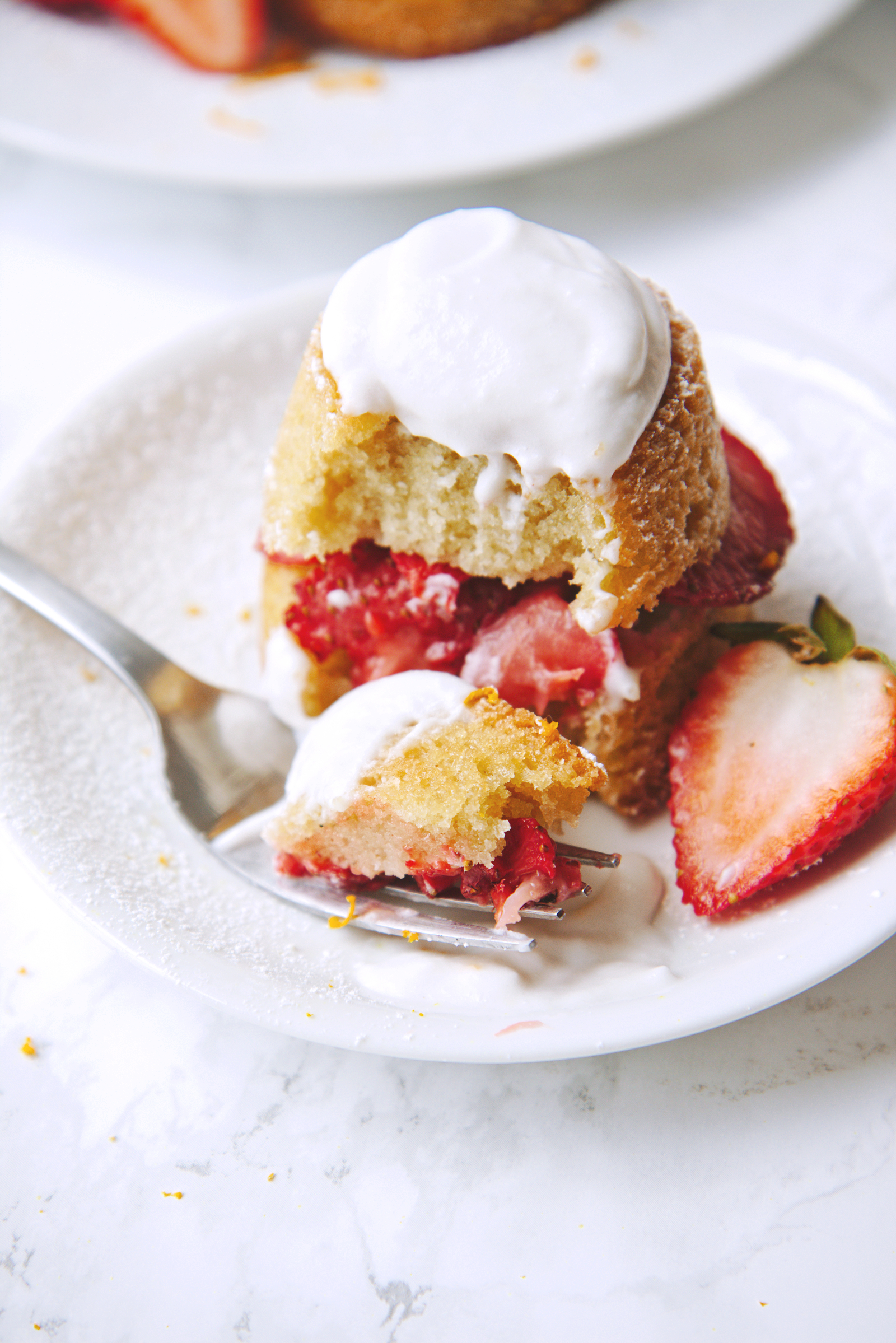 Dairy Free Strawberry Orange Shortcakes | La Pêche Fraîche