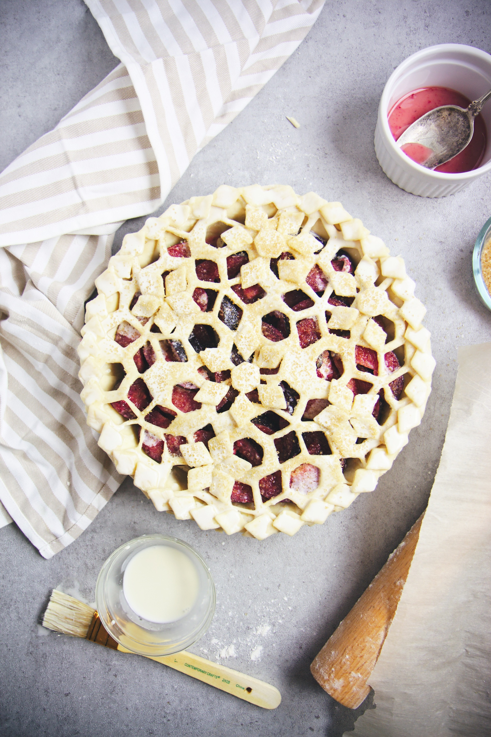 Plum and Frangipane Pie | La Pêche Fraîche