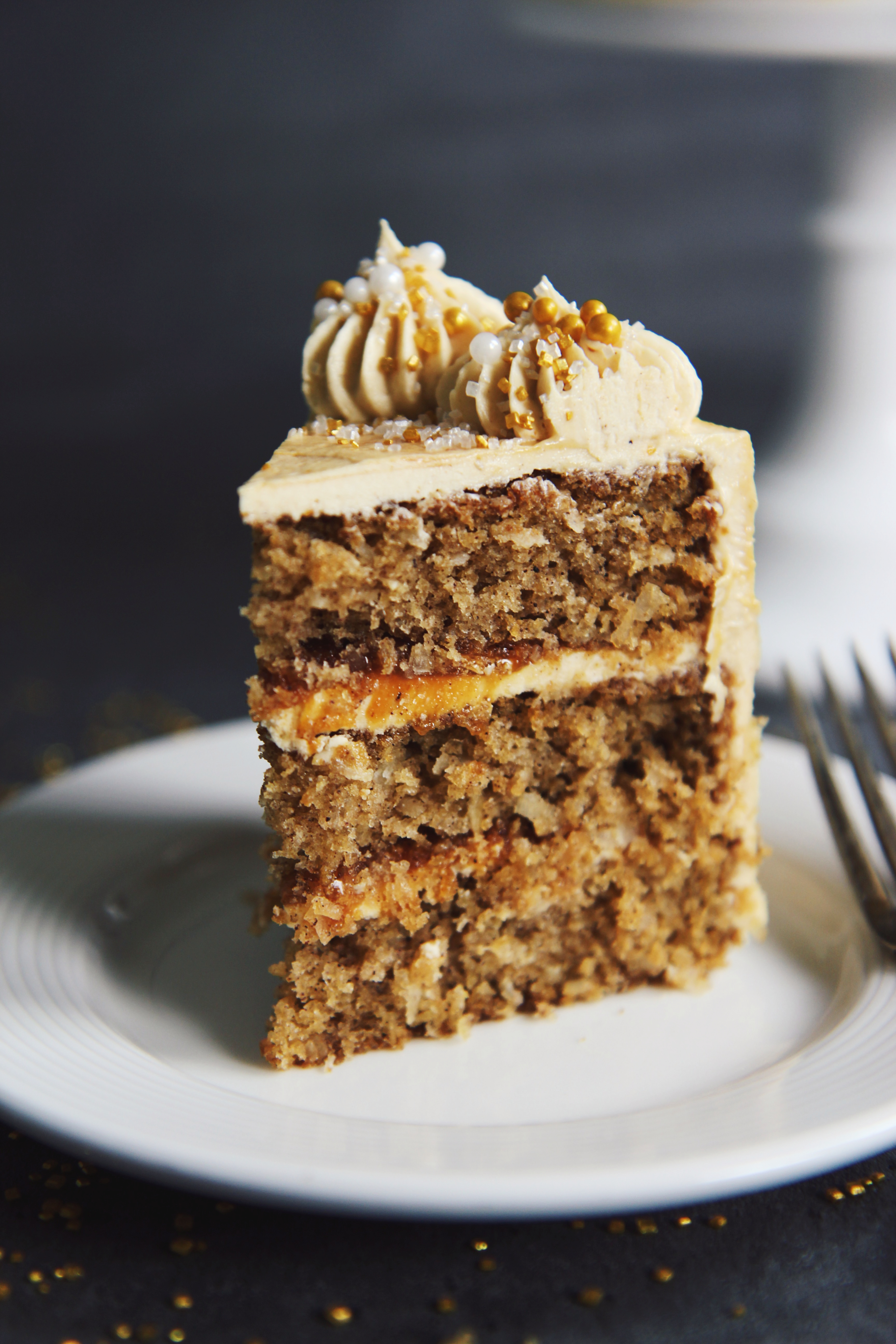 Parsnip and Miso Caramel Cake | La Pêche Fraîche
