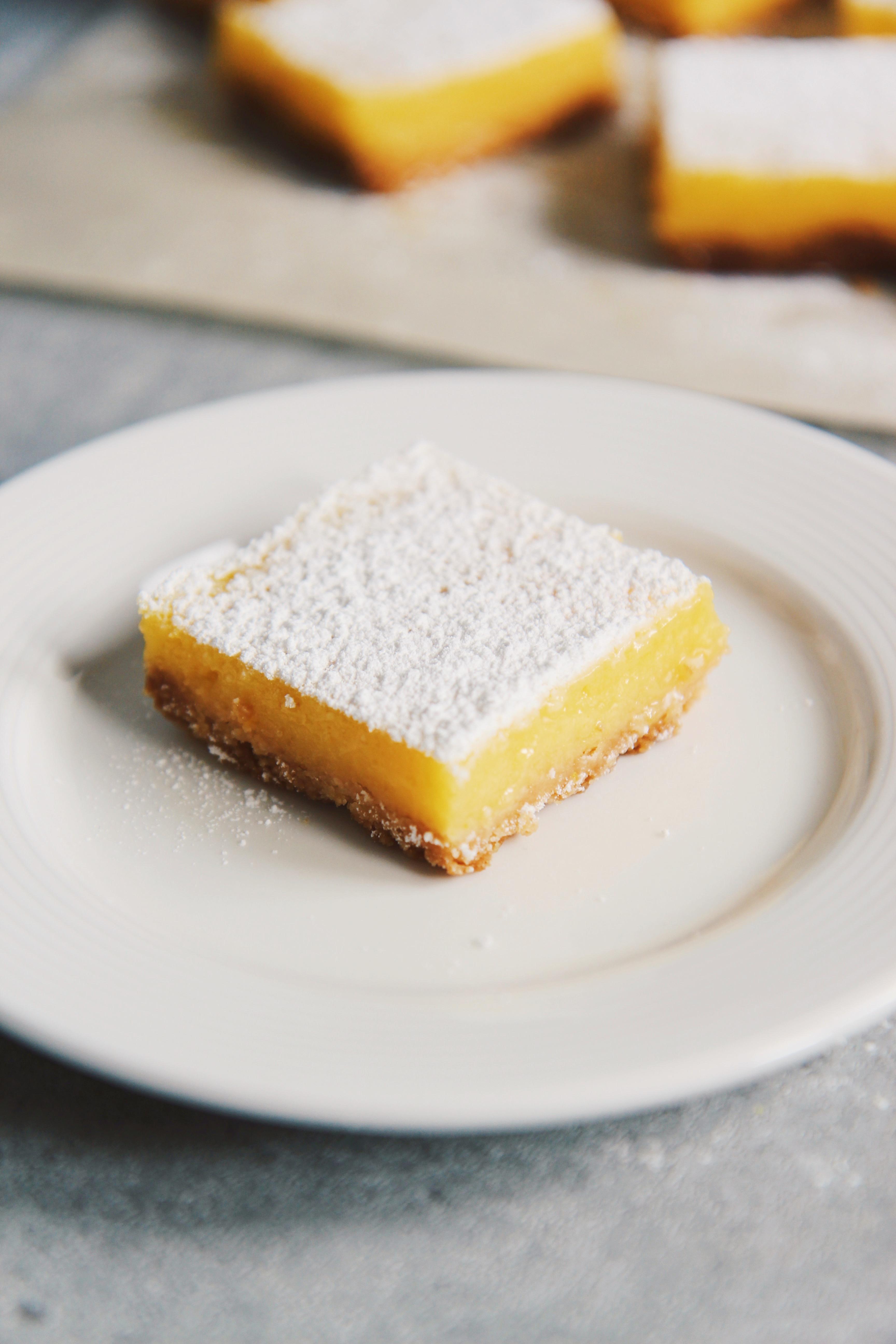 Meyer Lemon Bars | La Pêche Fraîche
