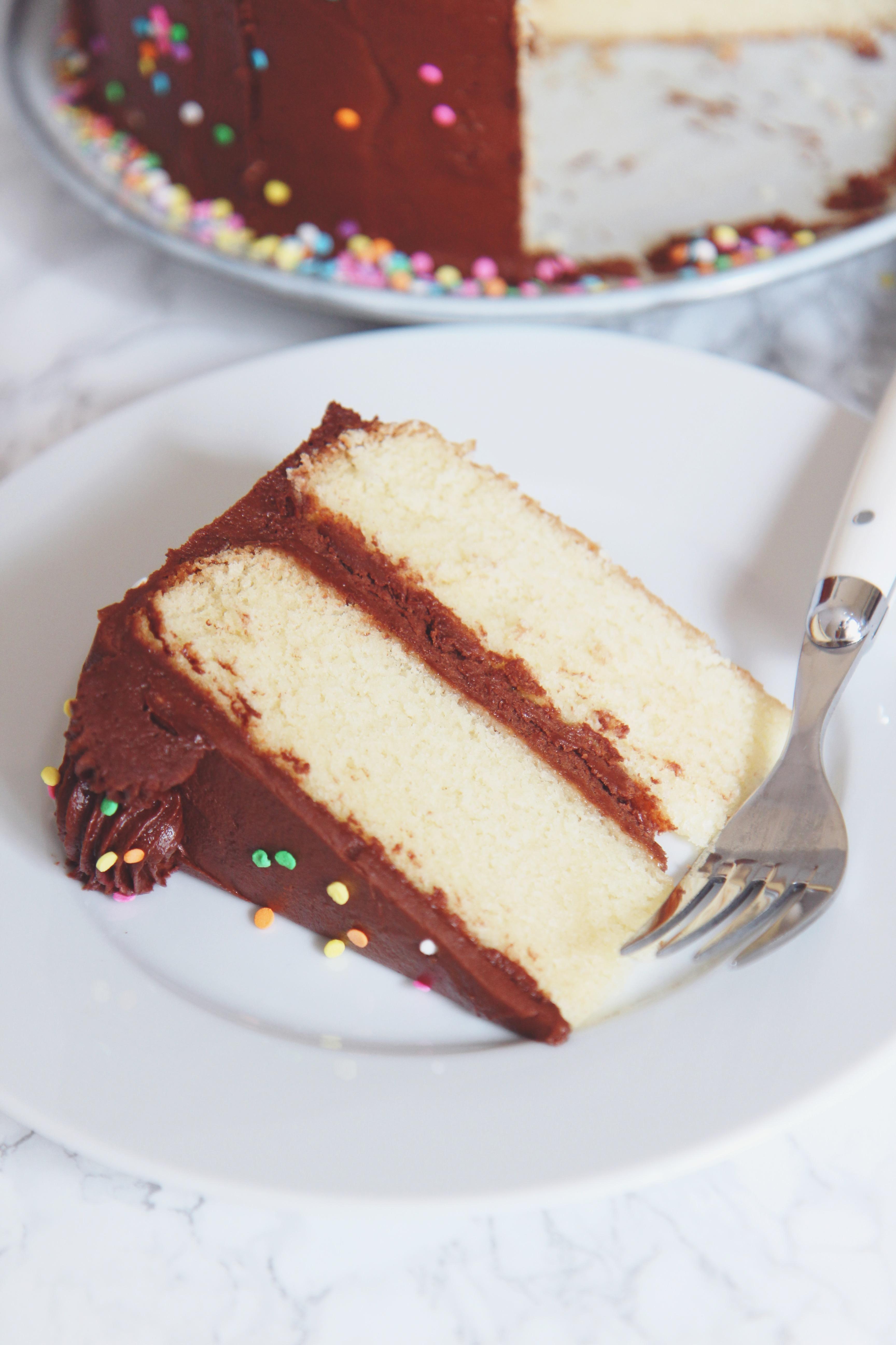 Classic Birthday Cake | La Pêche Fraîche